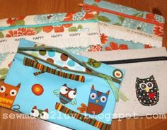 diy zippered bags