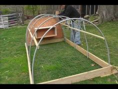 I made a chicken tractor this spring.  Havent added the wheels yet, but I wanted to get this sequence up before it got too cold out.  Hope this gives you some good ideas on how to build one.  If  you have any questions, please comment or message me.    Music Credits: Thingamajig, composed and performed by Jason Shaw (http://www.youtube.com/...