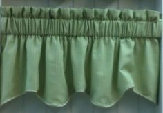 "Landis Duchess Filler Valance. 50""w x 15""l. Available in 4 colors.Green (as shown), Rust, Taupe & Grey @ $19.99.To Order Call toll-free 877-722-1100"