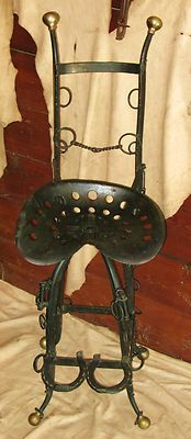 Bits & tractor seat barstool