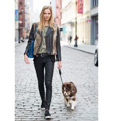 Tomboy tomboy, street style, dog