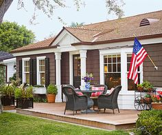 front patio, wood decks, curb appeal yard, backyard, front deck, front porches