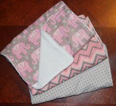 Baby Girl Boutique Burp Cloth Gift Set