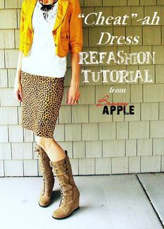 refashion DIY tutorial - from top to a dress! #sewing