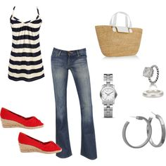 Very cute style, cloth, accessori, lake outfit, fashion plate, at the beach, ahh summer, lake day outfit, stripe