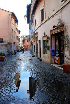 Trastavere washed down each morning.