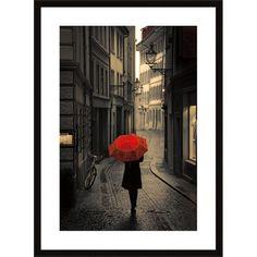 Red Rain Framed Print.