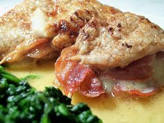 Can also make this eith chicken!  Veal scallops stuffed with provolone and prosciutto. Available here.     Homemade Veal  Recipes at http://vealrecipes.healthandfitnessjournals.com