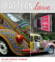 patterned cars