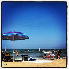View of Lake Michigan from my beach chair. Holland, Michigan State Park.