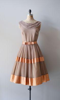1950's Chiffon Dress #retro #vintage #feminine #designer #classic #fashion #dress #highendvintage