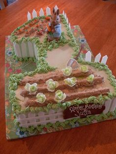 Peter Rabbit First Birthday Cake!