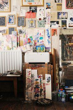 Inspirational creativity work space. #creative #interior
