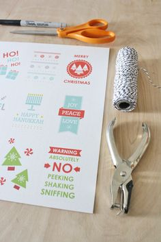 More free printable gift tags from Sass & Peril.