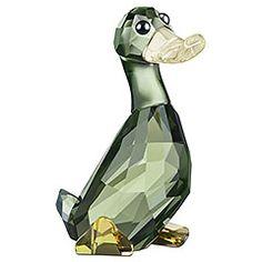 lovlot duke, swarovski duck, anð glass, ducks, swarovski crystalworld