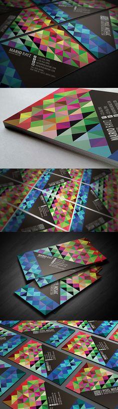 Pixel Mosaic Business Card | #Business #Card #letterpress #creative #paper #bizcard #businesscard #corporate #design #visitenkarte #corporatedesign < found on www.behance.net pinned by www.BlickeDeeler.de | Have a look on www.LogoGestaltung-Hamburg.de