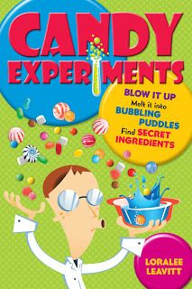 """Candy Experiments"" by Loralee Leavitt - so many great ideas, my kids LOVE this book!  And it is perfect for finding ways to ""experiment"" and use of all that leftover Halloween candy!"