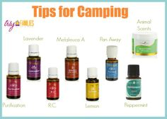 Camping with essential oils will keep everyone in their best health and keep the chemicals away from mother nature!