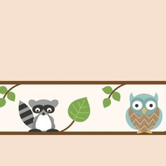 Forest Friends Warm Beige #rollershades #windowtreatments #windows #modernwindowtreatments #colors #patterns #owls #racoons #kidsroom #boysroom