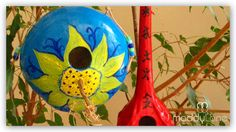 Free Gourd Crafts | MIY Garden Gourd Birdhouses to make with the kids