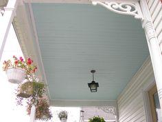 haint blue, blue porch, porch ceil, blue ceil, ceilings, paint, aegean blue, blues, front porches