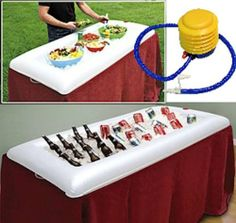 "INFLATABLE SALAD BAR WITH AIR PUMP by INFLATABLE SALAD BAR. $14.99. Extra large, rectangular serving station with air pump. Measures 51 1/2""L  x 24 1/2""W x 5''H. Make this a no-brainer for parties, picnics, camping, and more!. 12 x 42'''' interior accommodates multiple serving bowls. Light weight and portable - use again and again. Our inflatable salad bar with air pump  w keeps food chilled for hours and serve large crowds indoors or out! Extra large, rectangul..."