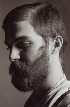 bearded men can be clean and combed.