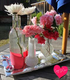 #PaintDipped vases for #Valentines day #LowesCreator @Lowe's