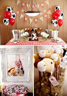 COWBOY THEMED BIRTHDAY PARTY with so many ideas! Via Kara's Party Ideas KarasPartyIdeas.com #cowboypartyideas #partyideas #cowboypartysupplies
