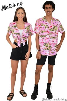 Pink Flamingo Loud - Rayon - Mens and Ladies Cut Hawaiian Shirts & Wrap Tops. Lovely soft and colour rayon for festivals, luau parties, cruising, fancy dress or just coz you like to match! #hawaiianshirts #partyshirts #flamingo #flamingoshirts #festivalshirts #festivalfashion #festivaledit #flamingoparty #islandstyleclothing #fashion #ootd #alohashirts