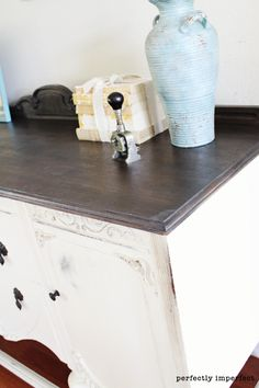 ebany stain on dry sink