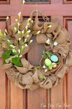 holiday, the doors, burlap wreaths, idea, craft, front door, easter wreaths, spring wreaths, diy