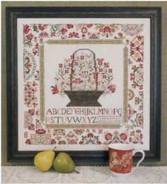 Cornwall Cottage Sampler is the title of this cross stitch pattern from Rosewood Manor that is stitched with Weeks Dye Works (Pamlico/3, Mol...