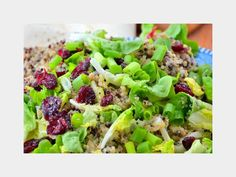 25 Delicious and Clean Detox Dishes: Cran-Quinoa Salad http://www.prevention.com/food/healthy-eating-tips/25-delicious-and-clean-detox-dishes?s=2