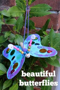 Easy to make and ever so pretty butterfly craft