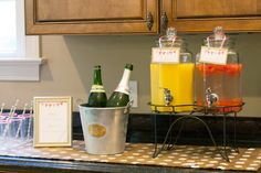 We love the idea of having champagne next to the drink station at a baby shower. After all, it is a celebration!
