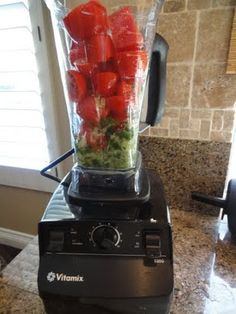 Tomato Soup Ingredients: 8-10 Roma Tomatoes 6 Basil leaves 3 Cloves of Garlic 3 Tbl. Olive Oil 1 Sweet Onion Directions: Mix all of the ingredients well in your Vitamix machine until warm and smooth