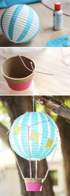 DIY Hot Air Balloon Decoration tutorial @Maria Canavello Mrasek Kolossal Hipple  for next year with your glowing paper balls ♥