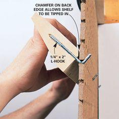 make shelf for peg board