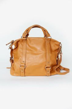 Nora Leather Satchel - Have you ever seen a more perfect everyday bag? www.mooreaseal.com