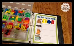 Quick Tip:  Using Binders for Workstations!  Keeps the materials in one place, and they are easy to change out!