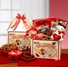 """Love Notes    A Love Note to my Valentine, """"I'm glad they gave love wings, Because by them he brings, My loving heart to you, Say you'll take it, Do!""""  This sweet poem is inscribed on the front of this cherished Valentines gift box and sends your sincere message of love to your Valentine.  SHOP NOW: www.KimsLabellabaskets.com"""