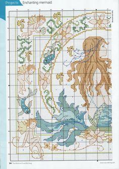 Beautiful mermaid cross stitch 1