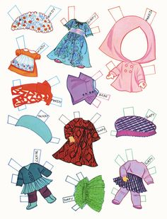 Lots of paper doll printables