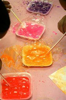 Splish Splash Splatter: Bubble Painting