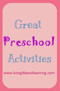 Great preschool activities for your little ones