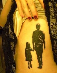 images of father daughter tattoo idea.. But since I have a son this would be cool Mother son tattoo