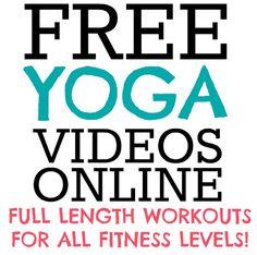 Full Length Yoga Videos Online for free..