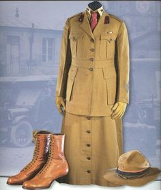 Uniform of contract surgeon, US Army, in the Smithsonian. Blog: Women in uniform, World War I edition.