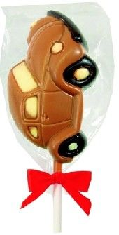 Milk Chocolate VW Beetle Lolly - Rebecca Mays Sweets & chocolates £2.00